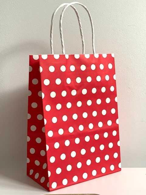 Cadeautasje polkadot rood