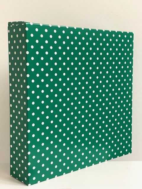 Cadeaudoos Groen met Witte Stippen