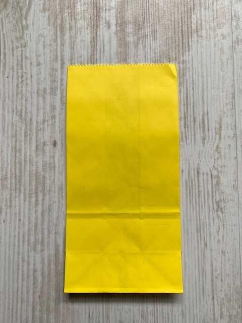 blokbodemzakje geel