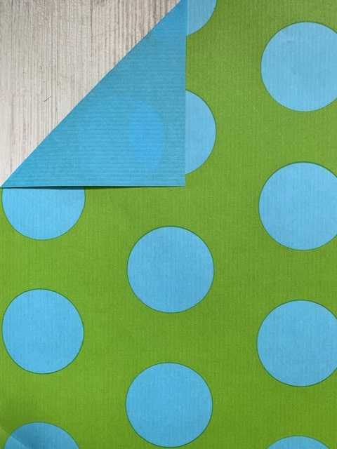 inpakpapier blauwe stippen
