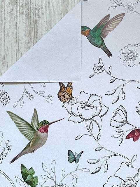 inpakpapier kolibri