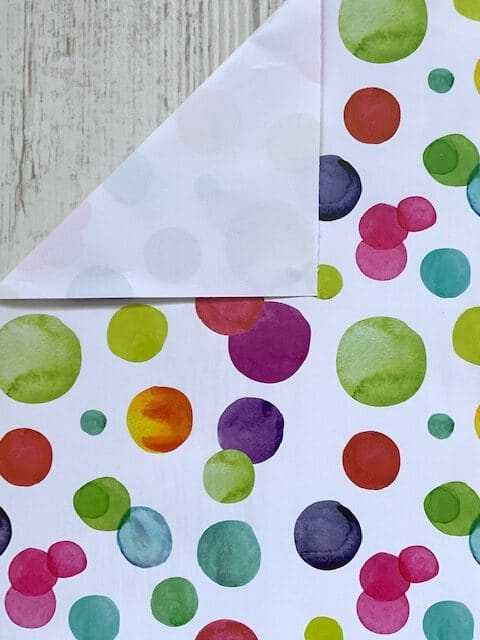 inpakpapier polkadot kleur