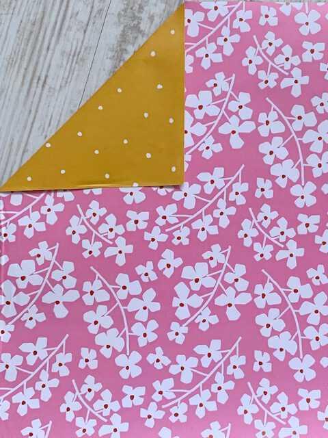 Inpakpapier Roze Bloemetjes