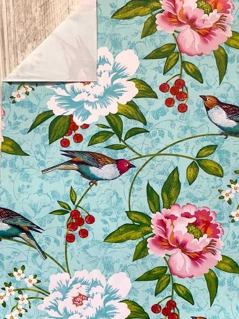 inpakpapier bloemen en vogels